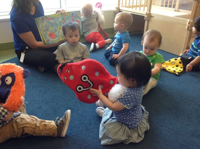 Infant and Toddler on story time